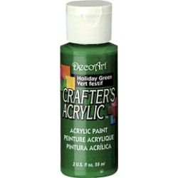 DecoArt Crafters Holiday Green acrylic paint 59ml