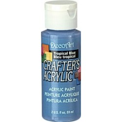 DecoArt Crafters Tropical Blue acrylic paint 59ml
