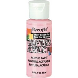 DecoArt Crafters Cherry Blossom Pink acrylic paint 59ml