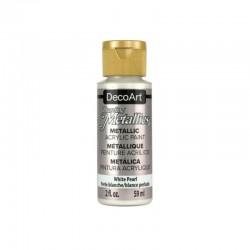 DecoArt Dazzling Metallic White Pearl acrylic paint 59ml