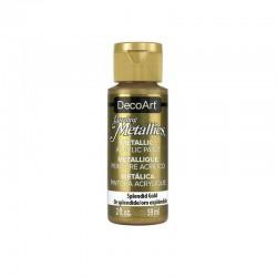 DecoArt Dazzling Metallic Splendid Gold acrylic paint 59ml
