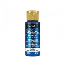 DecoArt Dazzling Metallic Ice Blue acrylic paint 59ml