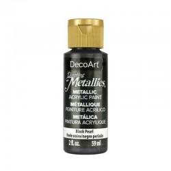 DecoArt Dazzling Metallic Black Pearl acrylic paint 59ml