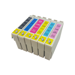 Compatible Set of 6 Epson T0801 / T0791 - T0806 / T0796...