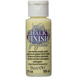 DecoArt Americana Chalky finish for glass Whisper acrylic...