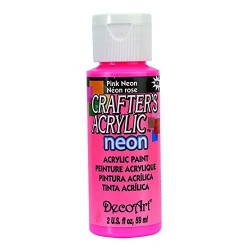 DecoArt Crafters Neon Pink acrylic paint 59ml