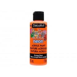 DecoArt Crafters Neon Orange acrylic paint 59ml