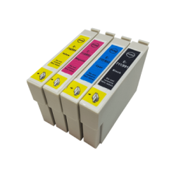 Complete Set Of 4 Compatible Epson T0711 - T0714 Ink...