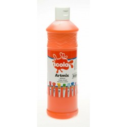 Scola Artmix Ready Mixed Poster Paint Orange 600ml