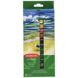 Derwent Academy Watercolour Paints 12ml 12 pack